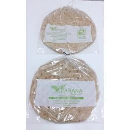 Base para Pizza de salvado de avena y salvado de trigo