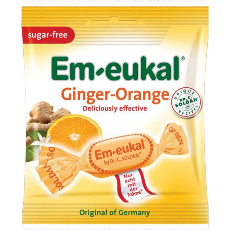 Caramelos jengibre - naranja sin azúcar