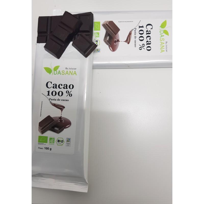 Tableta de Cacao puro 100% BIO Vidasanabyjulycar