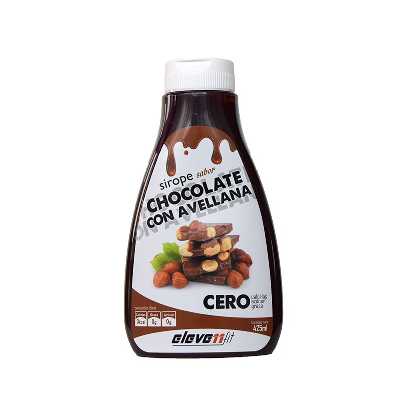Sirope chocolate con avellana 0% azúcares ELEVENFIT