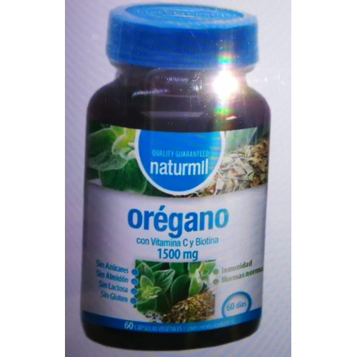 Orégano 1500 mg con Vitamina C y Biotina