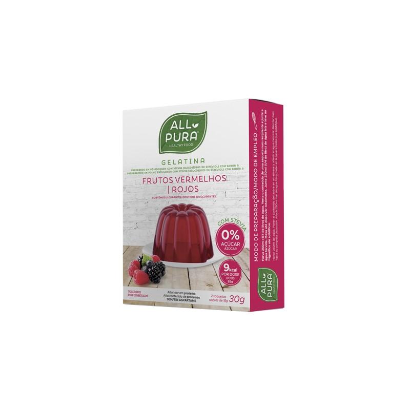 Gelatina Frutos Rojos sin azucar con edulcorante